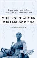 Modernist Women Writers And War