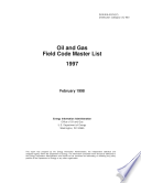 Oil and Gas Field Code Master List 1997