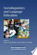 Sociolinguistics and Language Education Book