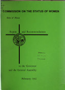 Report And Recommendations To The Governor And The General Assembly