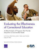 Evaluating the Effectiveness of Correctional Education