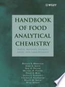 Handbook of Food Analytical Chemistry  Volume 1