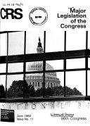 Major Legislation of the Congress