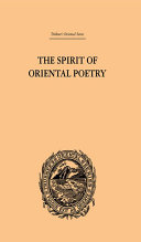 The Spirit of Oriental Poetry Book