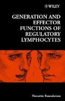 Generation And Effector Functions Of Regulatory Lymphocytes Book PDF