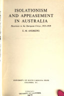 Isolationism And Appeasement In Australia
