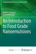 An Introduction to Food Grade Nanoemulsions Book