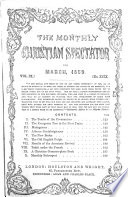 The Monthly Christian spectator Book