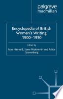Encyclopedia Of British Women S Writing 1900 1950