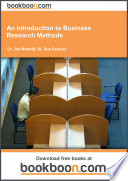 An Introduction To Business Research Methods Bookboon Com 2015