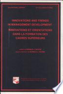 Innovations Et Orientations Dans la Formation Des Cadres Supérieurs