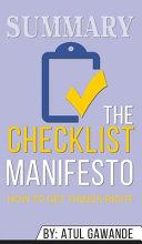 Summary of The Checklist Manifesto Book