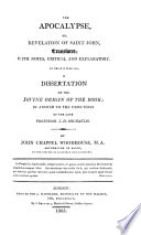 The Apocalypse Or Revelation Of Saint John Translated With Notes Critical And Explanatory