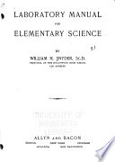 Laboratory Manual for Elementary Science