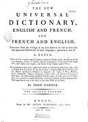 Le nouveau dictionnaire universel françois-anglois et anglois-françois ebook
