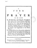 Pdf A form of prayer to be used ... on Wednesday the fifth day of February 1812, being the day appointed for a general fast