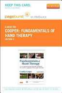 Fundamentals of Hand Therapy   Pageburst on Vitalsource Retail Printed Access Code Book