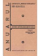 """Anuarul Liceului """"Mihai Viteazul"""" din Alba Iulia (1933-1934) Pdf/ePub eBook"""
