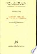 Momenti e figure della civiltà europea, voll. III-IV