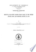 Results of Magnetic Observations Made by the United States Coast and Geodetic Survey