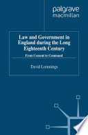 Law And Government In England During The Long Eighteenth Century