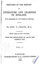 Sketches of the History of Literature and Learning in England ...