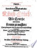 Secretum secretorum oder das allervortrefflichste ... Kunst-Stück, alle Leuthe mit ehesten fromm zu machen