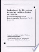 Sanitation Of The Harvesting Processing And Distribution Of Shellfish Book PDF