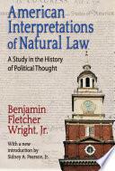 American Interpretations of Natural Law Book