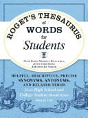 Pdf Roget's Thesaurus of Words for Students