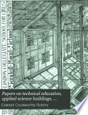 Papers on Technical Education  Applied Science Buildings  Fittings and Sanitation Book PDF