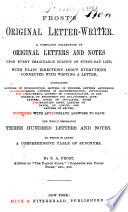 Frost s Original Letter writer