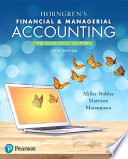 Horngren S Financial Managerial Accounting The Managerial Chapters PDF