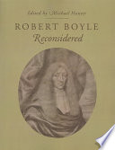 Robert Boyle Reconsidered Book
