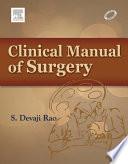 Clinical Manual of Surgery   e book Book