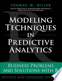 Modeling Techniques In Predictive Analytics Book PDF