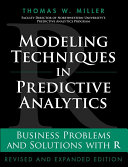 Modeling Techniques in Predictive Analytics [Pdf/ePub] eBook