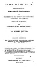 Narrative of Facts  Characterizing the Supernatural Manifestations in Members of Mr  Irving s Congregation