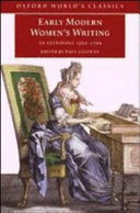 Early Modern Women's Writing : An Anthology 1560-1700