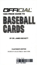 The Official Price Guide to Baseball Cards  1995