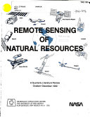Remote Sensing Of Natural Resources Book PDF