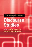 The Cambridge Handbook of Discourse Studies
