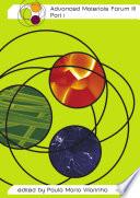 Advanced Materials Forum Iii Book PDF