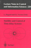 Stability and Control of Time delay Systems
