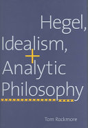 Hegel  Idealism  and Analytic Philosophy