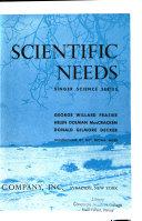 Singer Science Series: Our scientific needs