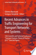 Recent Advances in Traffic Engineering for Transport Networks and Systems Book