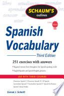 Schaum's Outline of Spanish Vocabulary, 3ed