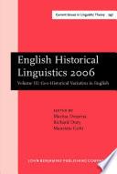 English Historical Linguistics 2006