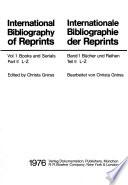 International bibliography of reprints